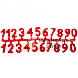 Kunststoff-Zahlen auf Nesselsucht (1-21)