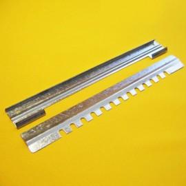 Lower chute of 2 parts, galvanized,