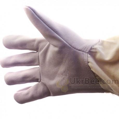 Rękawice pszczelarz (skóra + bawełna),