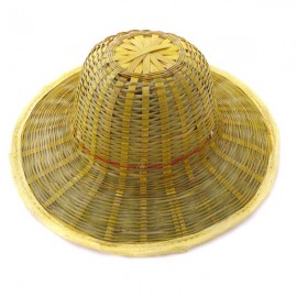 Sun-protective hat made of bamboo
